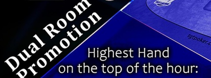 4/19 Dual Room Promotion | TGT Poker & Racebook & The Silks Poker Room