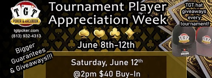 $1,500 Gaurantee Tournament at TGT Poker Room on 6/12