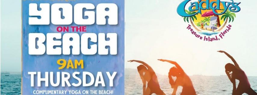 Thursday Yoga on the Beach at Caddy's Treasure Island 6/17