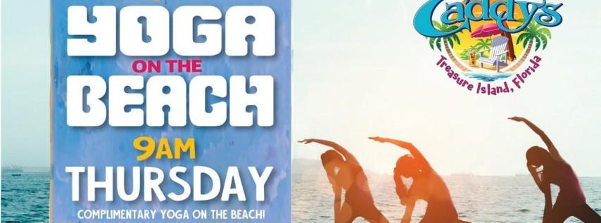 Thursday Yoga on the Beach at Caddy's Treasure Island 6/24