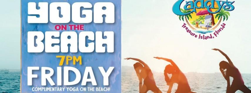 Friday Sunset Yoga on the Beach at Caddy's Treasure Island 6/18