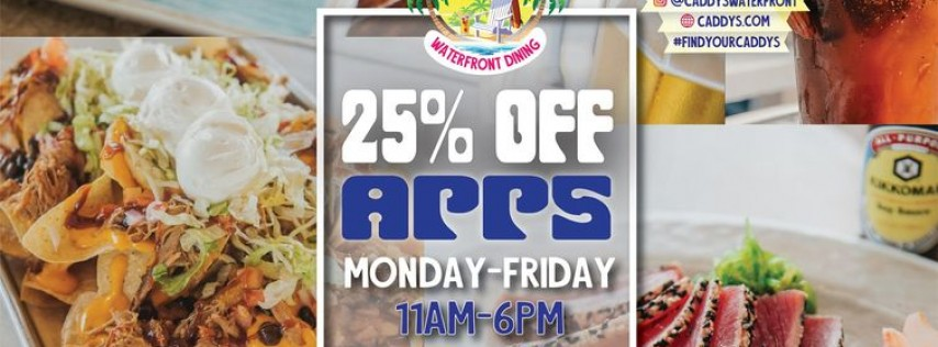 25% Off Appetizers at Caddy's St. Pete Beach 6/28 - 7/2
