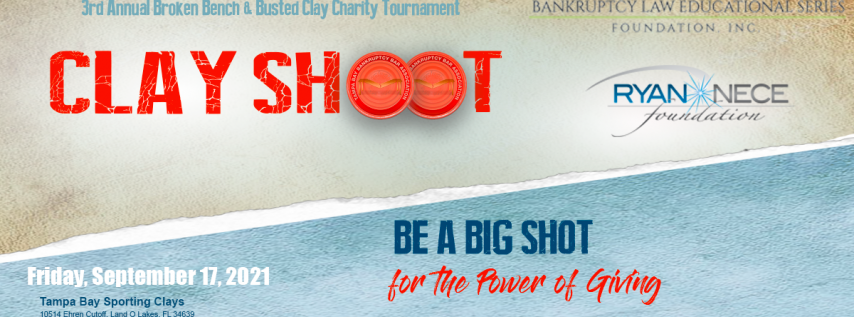 3rd Annual Broken Bench & Busted Clay Charity Tournament