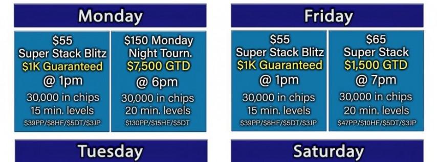 Silks $7,500 Guaranteed Tournament