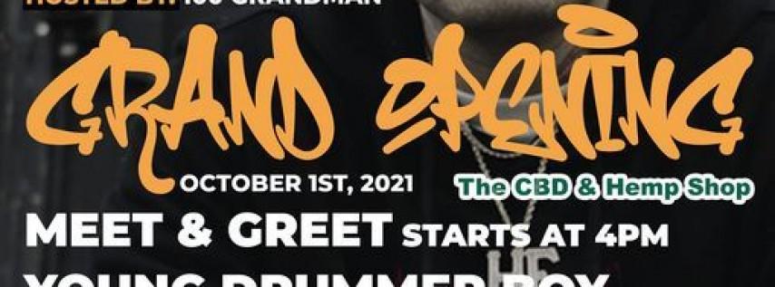 The CBD & Hemp Shop and Field Boyz Musik Presents: Young Drummer Boy Meet & Gree