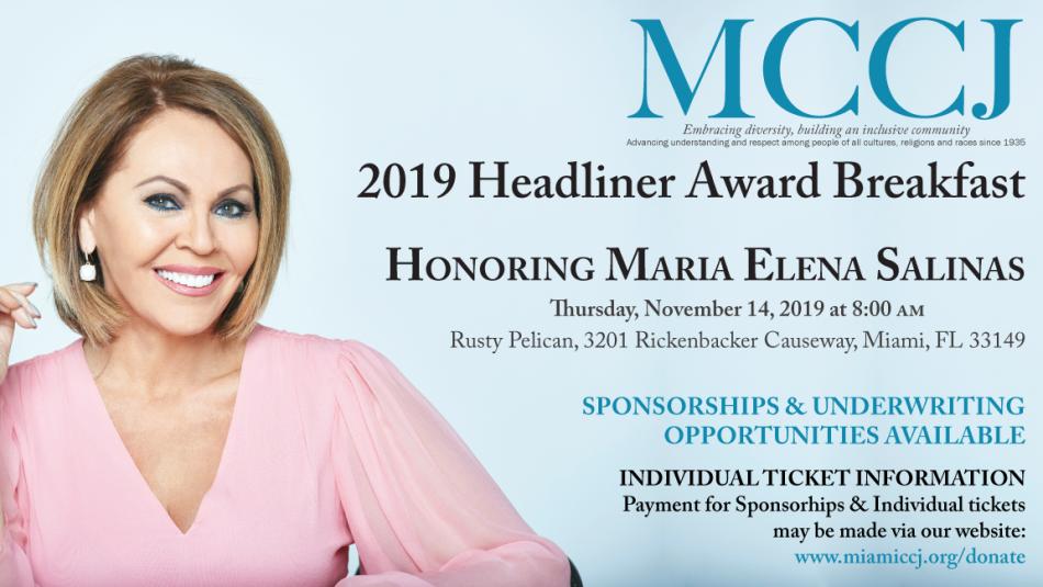 MCCJ's Headliner Award Breakfast