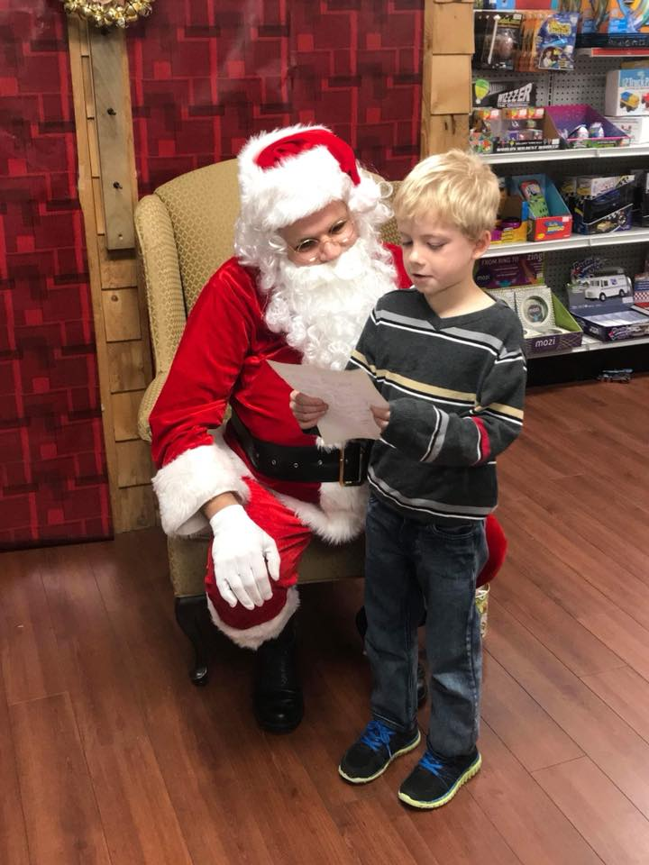 Pictures & donuts with Santa