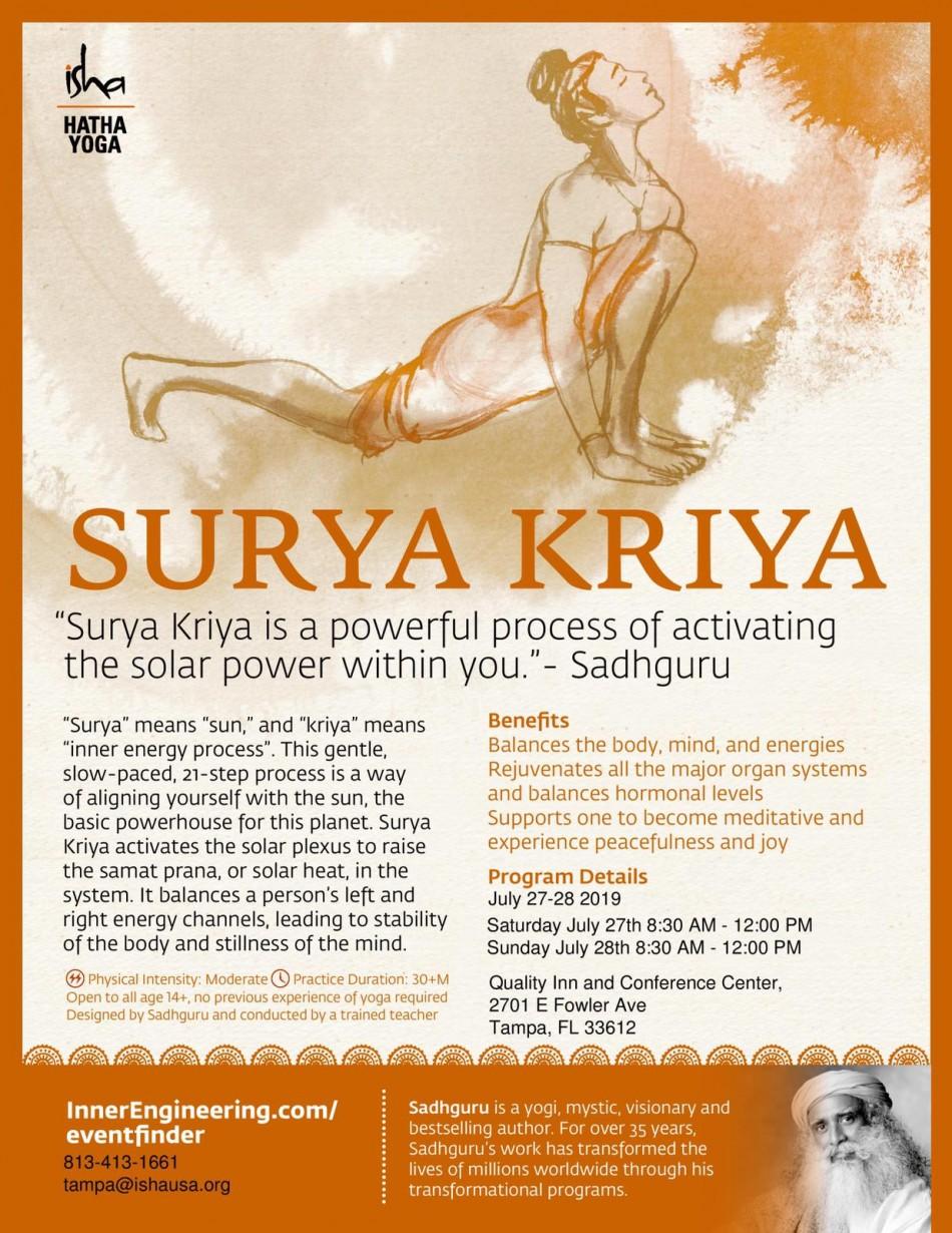 Hatha Yoga (Isha) – Surya Kriya