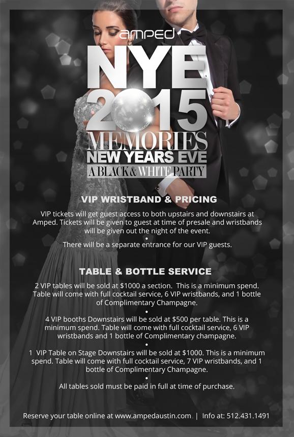 Amped NYE 2015 Memories Black & White Party