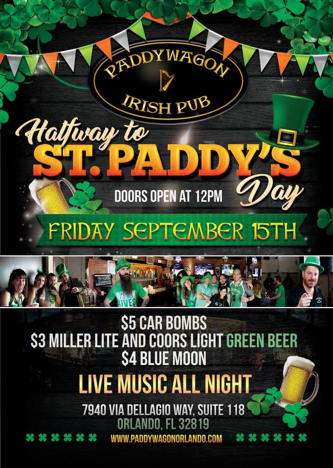 Halfway to St. Paddy's Day at PaddyWagon