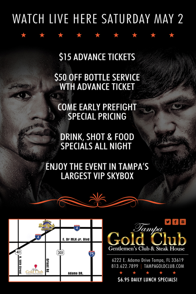 Mayweather vs. Pacquiao Fight at the Tampa Gold Club