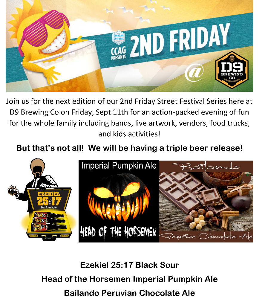 join us for our upcoming 2nd friday for a triple beer release charlotte nc sep 11 2015 6. Black Bedroom Furniture Sets. Home Design Ideas