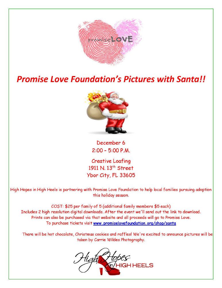 Promise Love Foundation's Pictures With Santa!