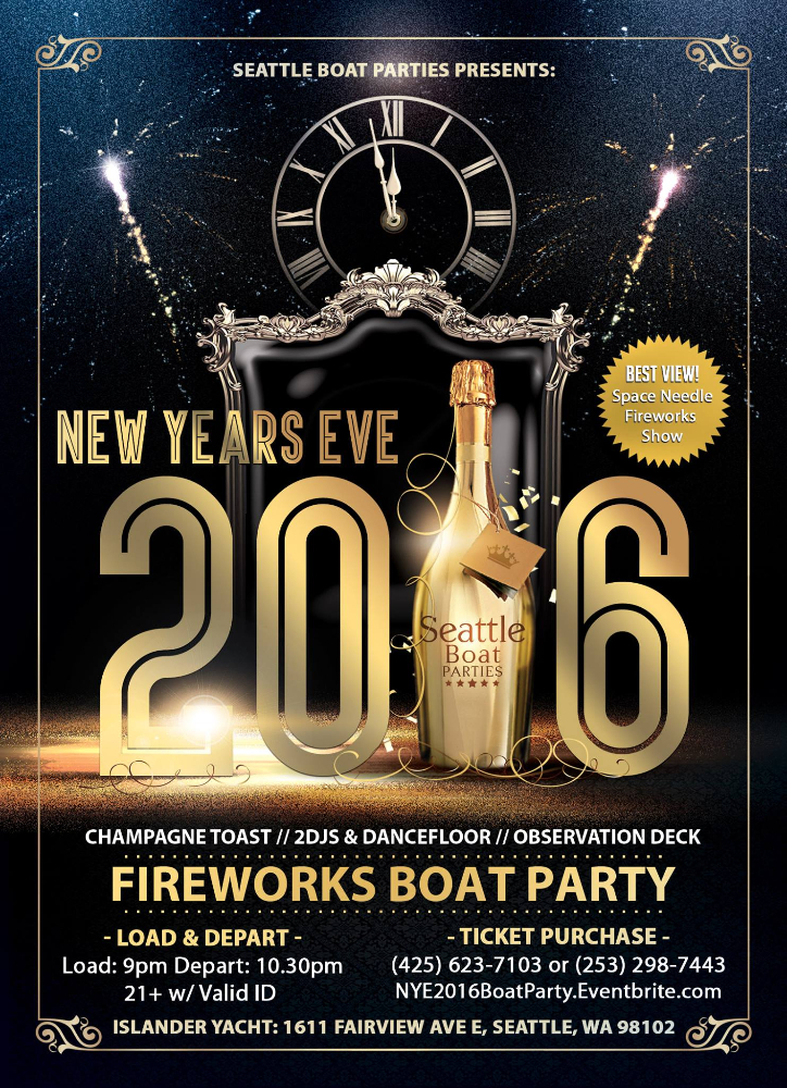 New Years Eve 2016 Boat Party, Seattle WA - Dec 31, 2015 ...