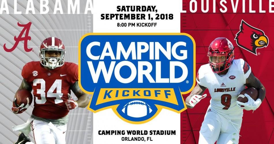 Camping World Kickoff, Orlando FL - Sep 1, 2018 - 8:00 PM