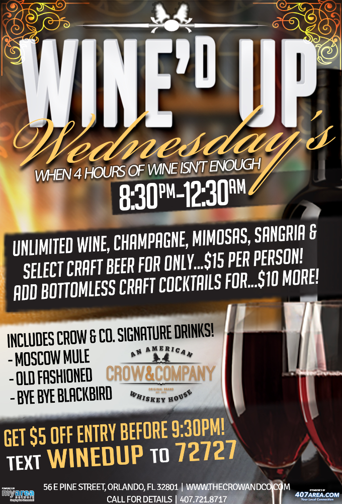 Wine'd Up Wednesdays!