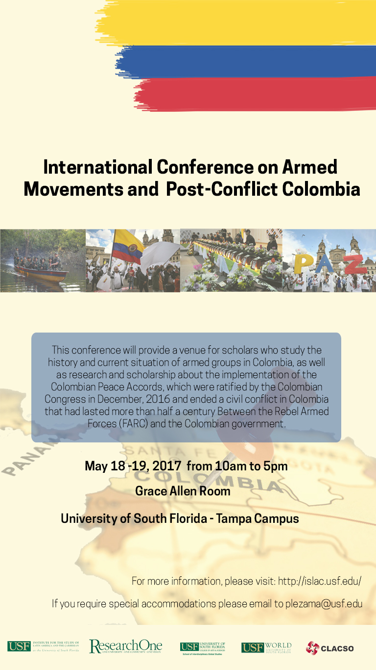 International Conference on Armed Movements and Post-Conflict Colombia