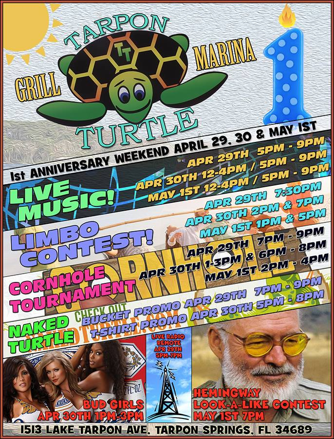 Tarpon turtle s st anniversary beach party weekend tampa