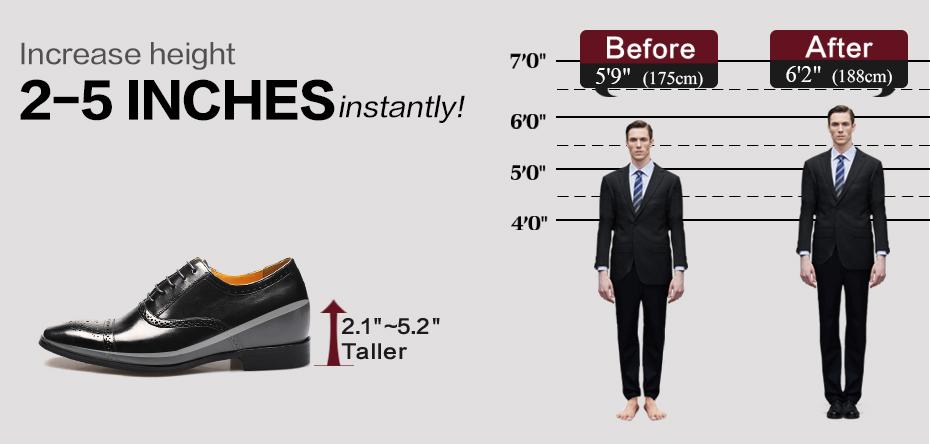 Zapatos Con Alzas Para Hombres.