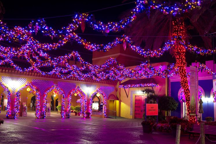 christmas town 2016 at busch gardens