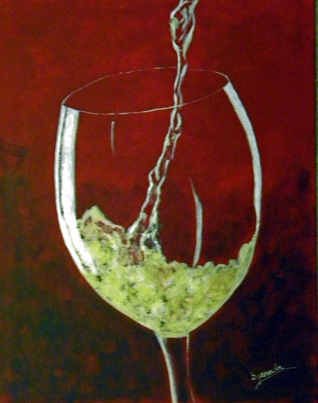 White white wine paint class in ybor 8 30 tampa fl aug for Wine and paint orlando