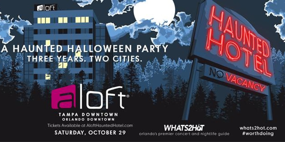 Haunted Hotel Halloween Party Aloft Tampa Downtown