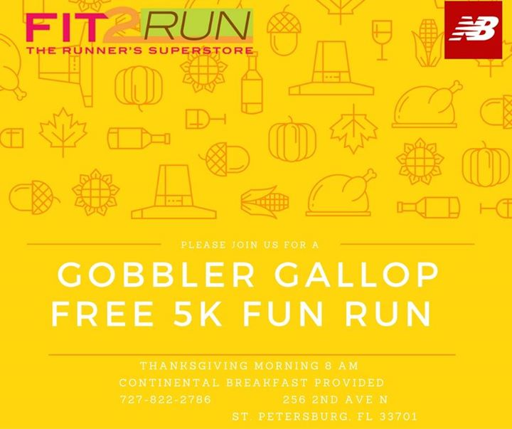 Gobbler Gallop >> Gobbler Gallop Free 5k Fun Run, St Petersburg & Clearwater ...