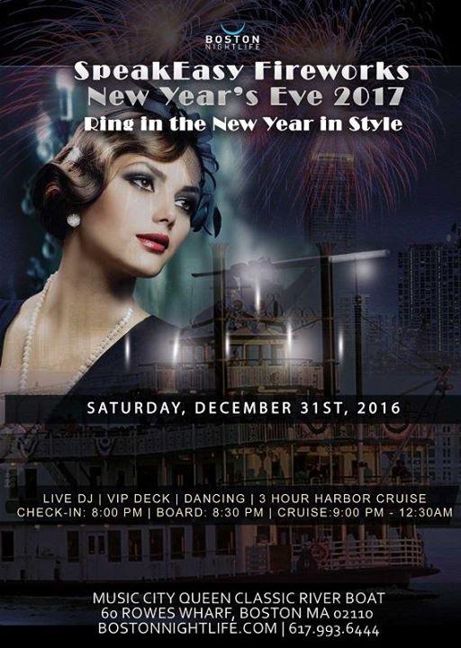 Boston New Years Eve 2017 - Speakeasy Fireworks Cruise ...