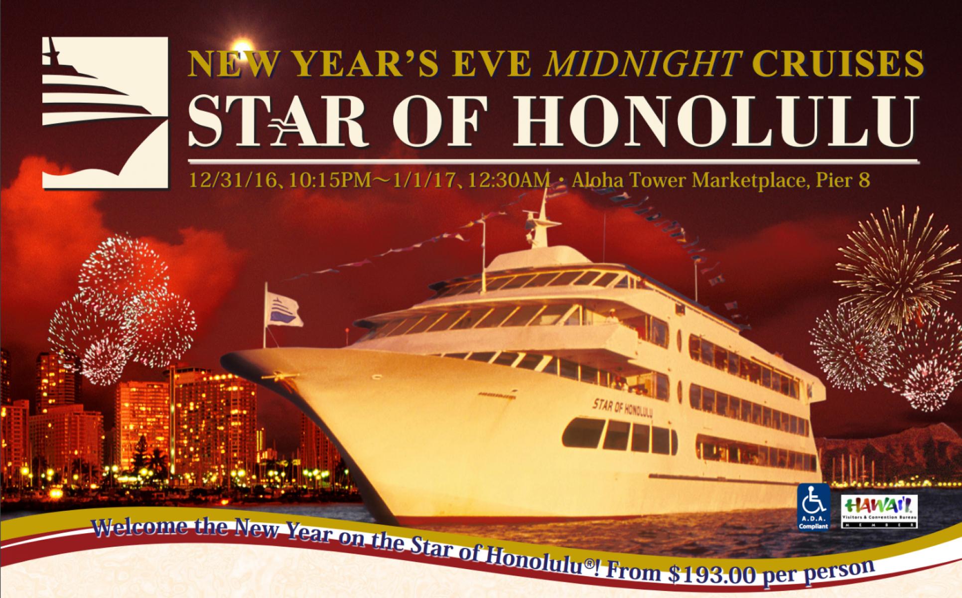 Ring In The New Year Aboard The Star Of Honolulu Honolulu