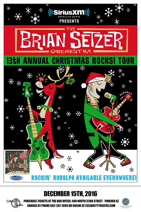 Brian Setzer Orchestra at Celebrity Theatre, December 15