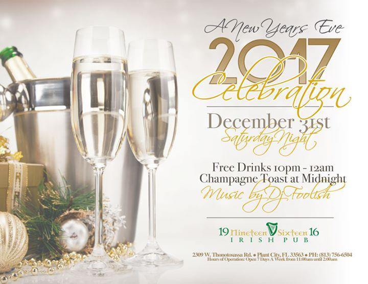 2017 New Years Eve at 1916 Irish Pub, Tampa FL - Dec 31 ...