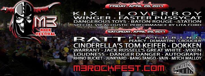 2017 M3 Rock Festival with Kix, Ratt, and More!