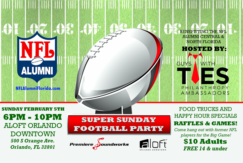 Guys With Ties Philanthropy Super Sunday Football Party