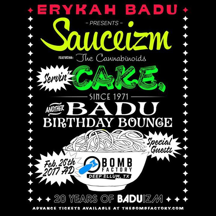 Erykah Badu Presents: Sauceizm, Another Badu Birthday Bounce