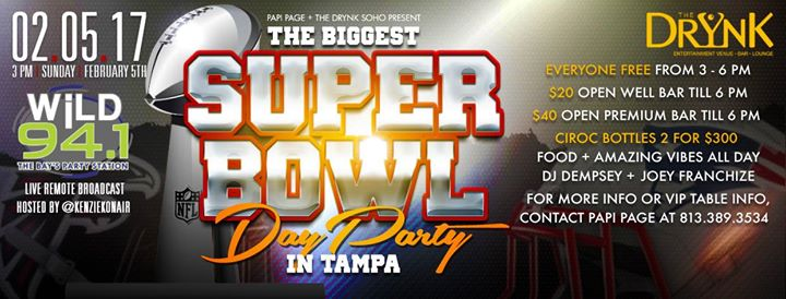 Super Bowl Day/Watch party