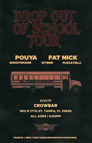 Pouya, Fat Nick, Ghostemane at Crowbar