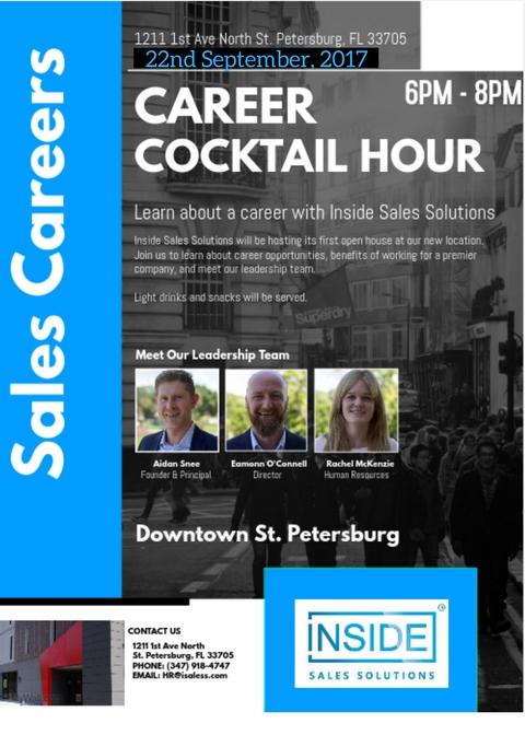 Career Cocktail Hour- Inside Sales Solutions