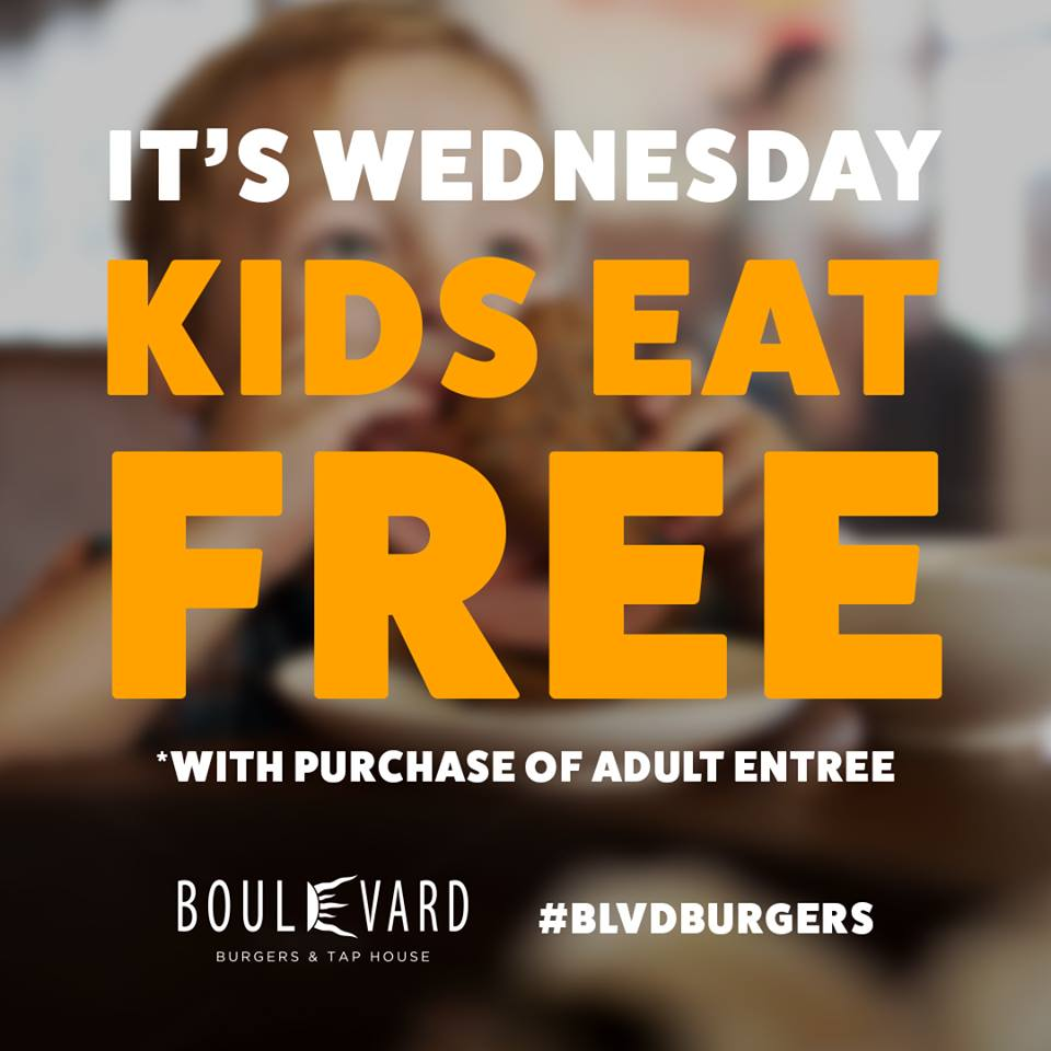 Kids Eat Free at Boulevard Burgers & Tap House