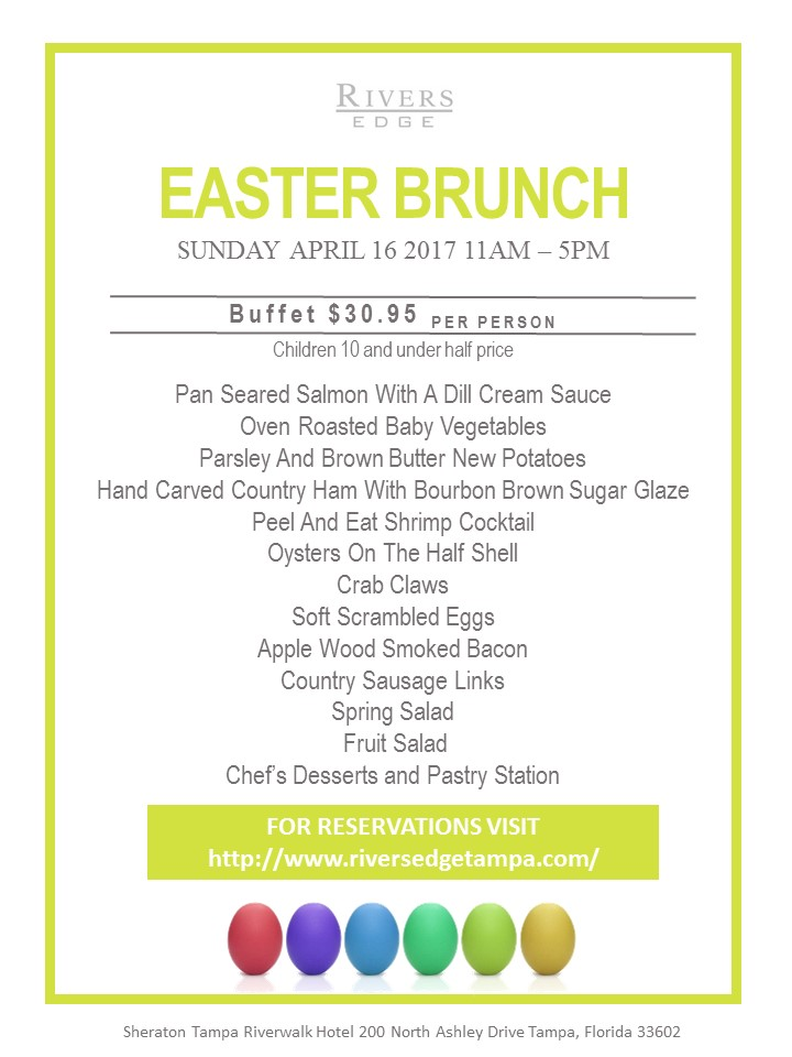 Easter Brunch at River's Edge