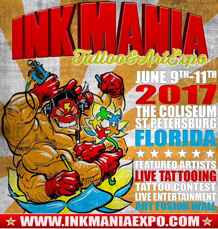 Ink Mania Expo, St Petersburg & Clearwater FL - Jun 9, 2017 - 2:00 PM