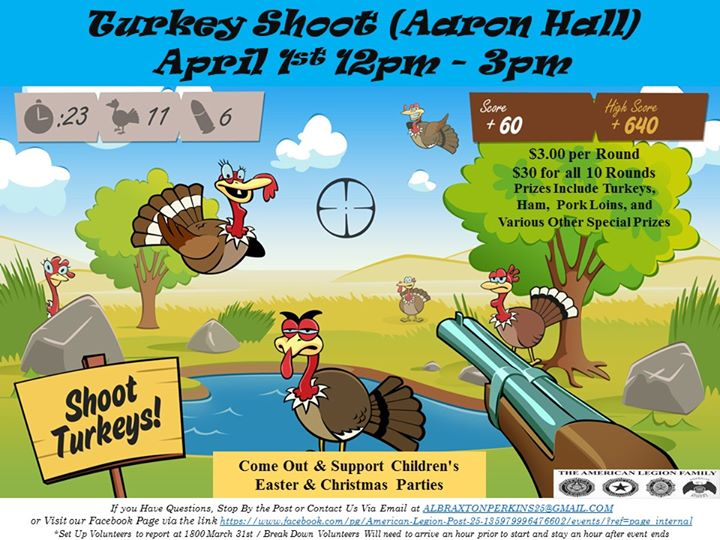 Turkey Shoot to Support Childrens Christmas and Easter Party
