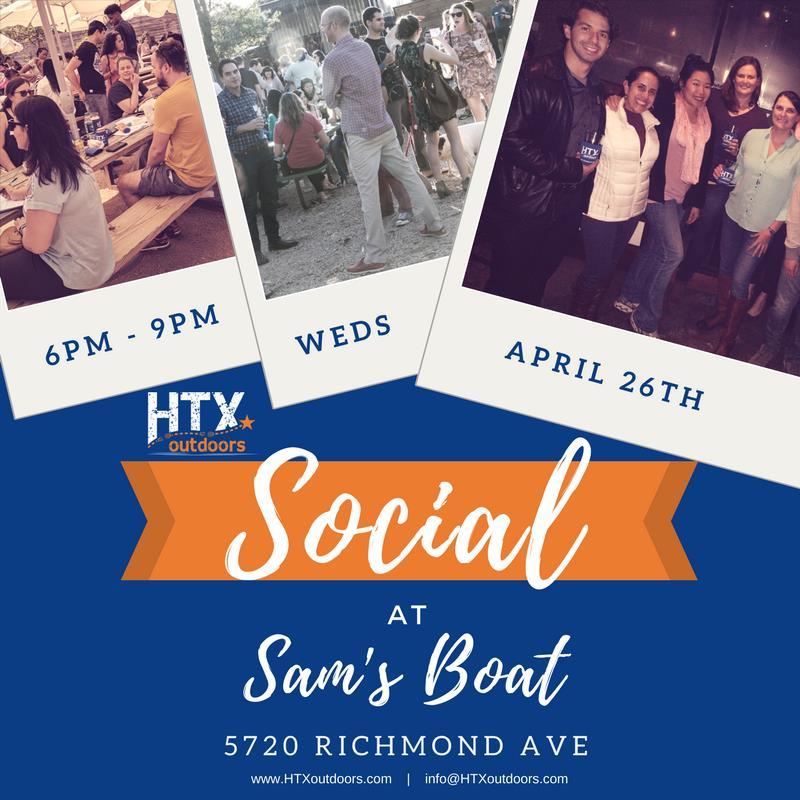 HTXoutdoors Social at Sam's Boat