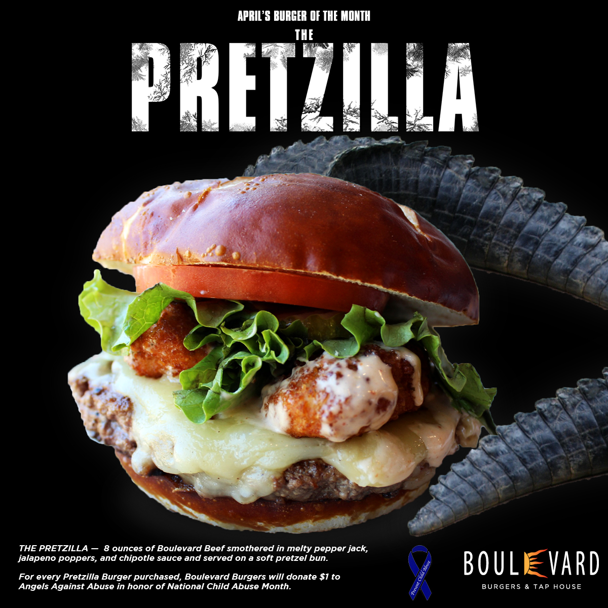 Boulevard Burgers Presents: THE PRETZILLA
