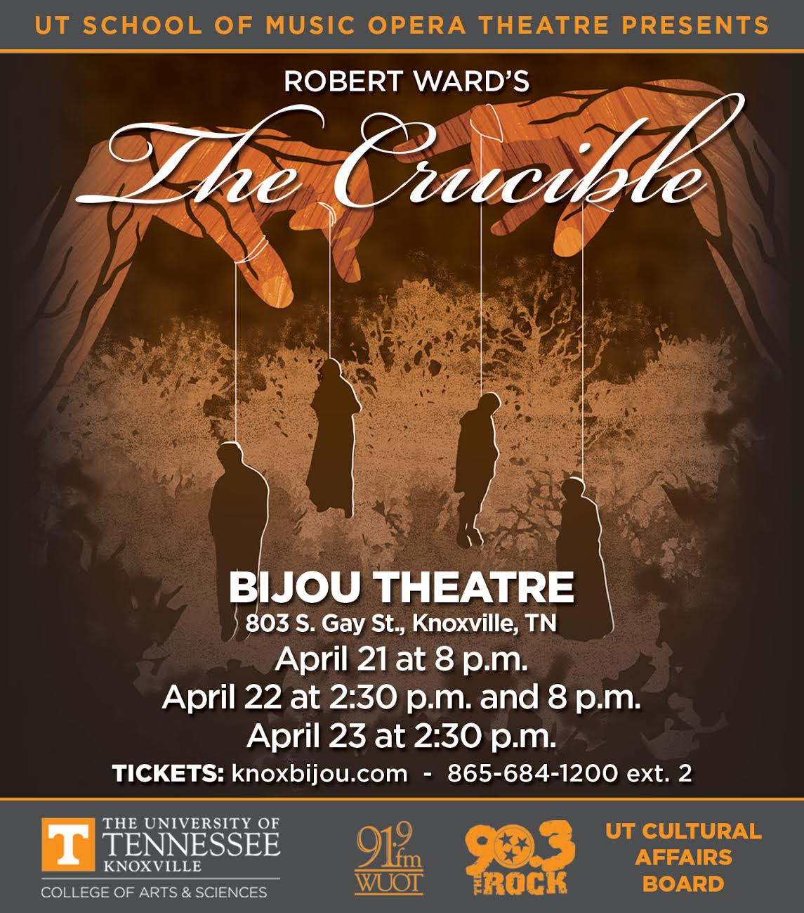 Ward's The Crucible presented by University of Tennessee Opera Theatre