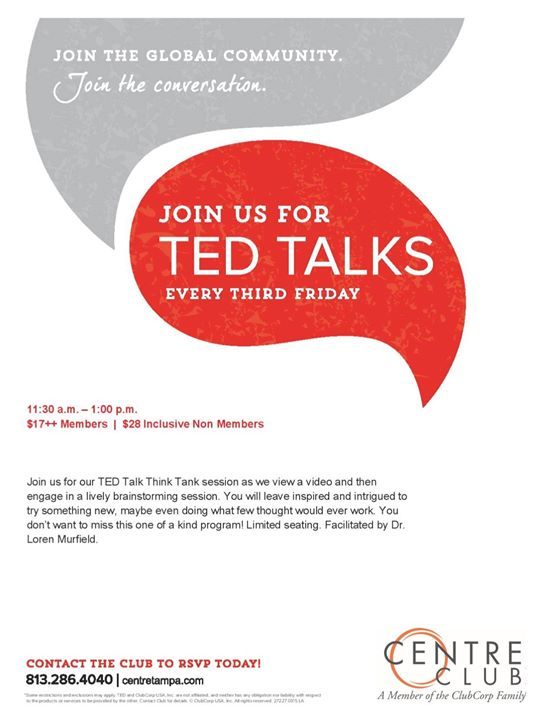"""Ted Talk Think Tank """"I Leapt from the Stratosphere"""""""
