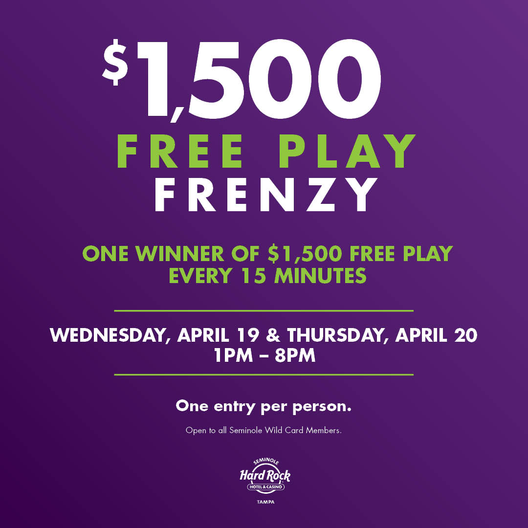 $1,500 Free Play Frenzy