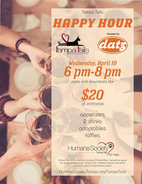 Tampa Tails Happy Hour at Datz