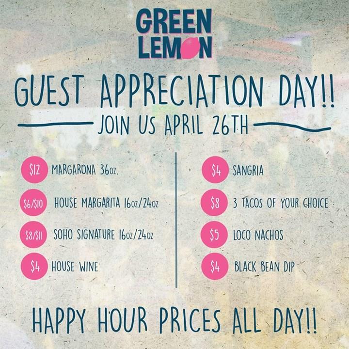 Guest Appreciation Day | Green Lemon