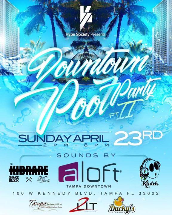 Aloft Downtown Pool Party