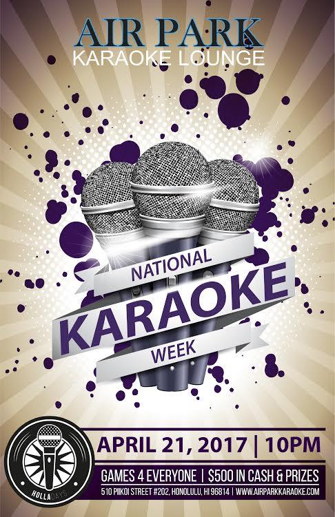 Holla-Days at Air Park Karaoke Lounge – National Karaoke Week